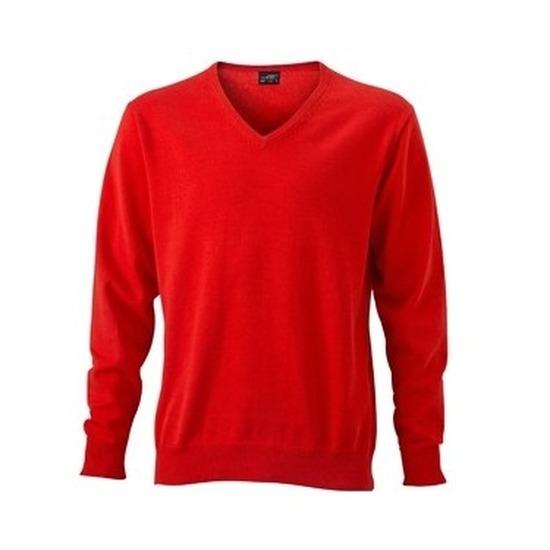 Voetbal oranje gebreide shirt v-hals lange mouwen