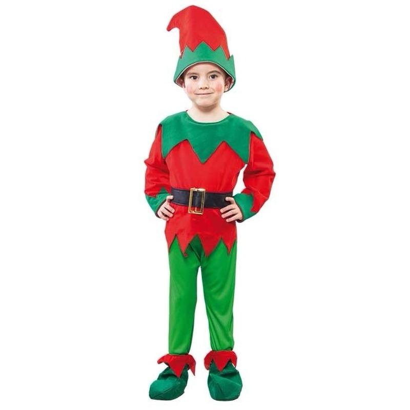 Voordeling kerst elf kostuum peuters