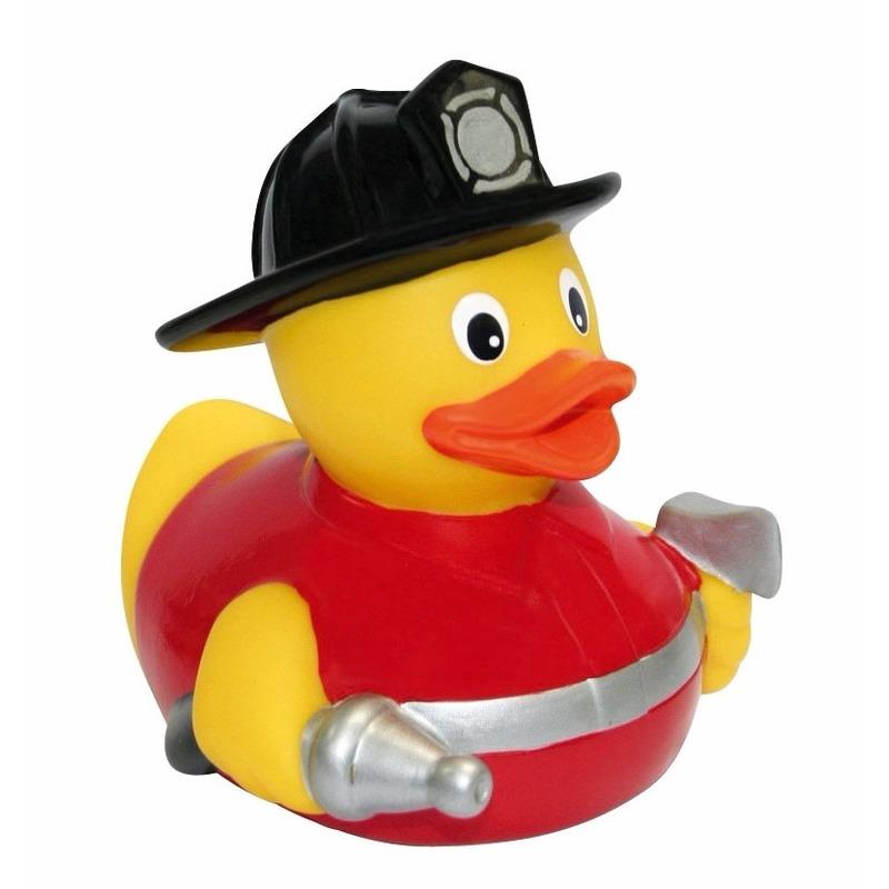 Water badeend brandweerman