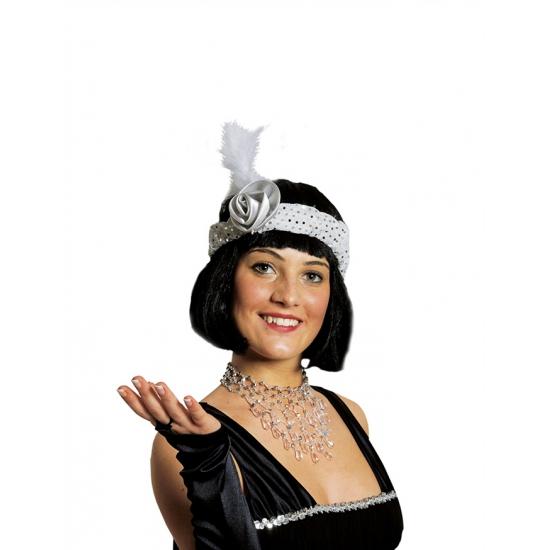 Witte Charleston hoofdband Carnavalskostuum winkel Beste kwaliteit