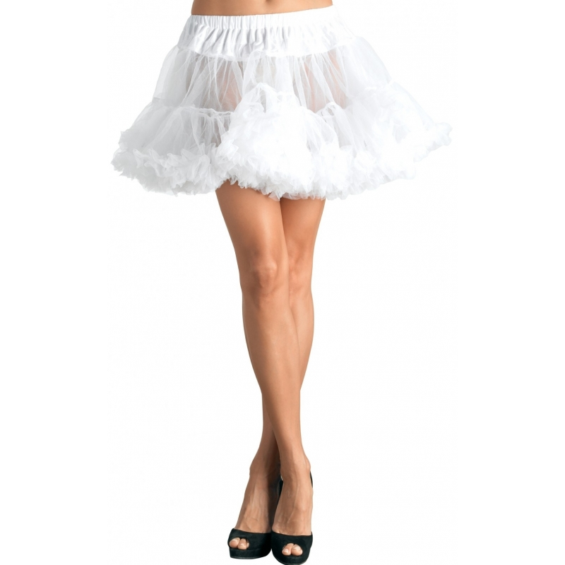 Witte Petticoat Kort 2-laags 40 Cm