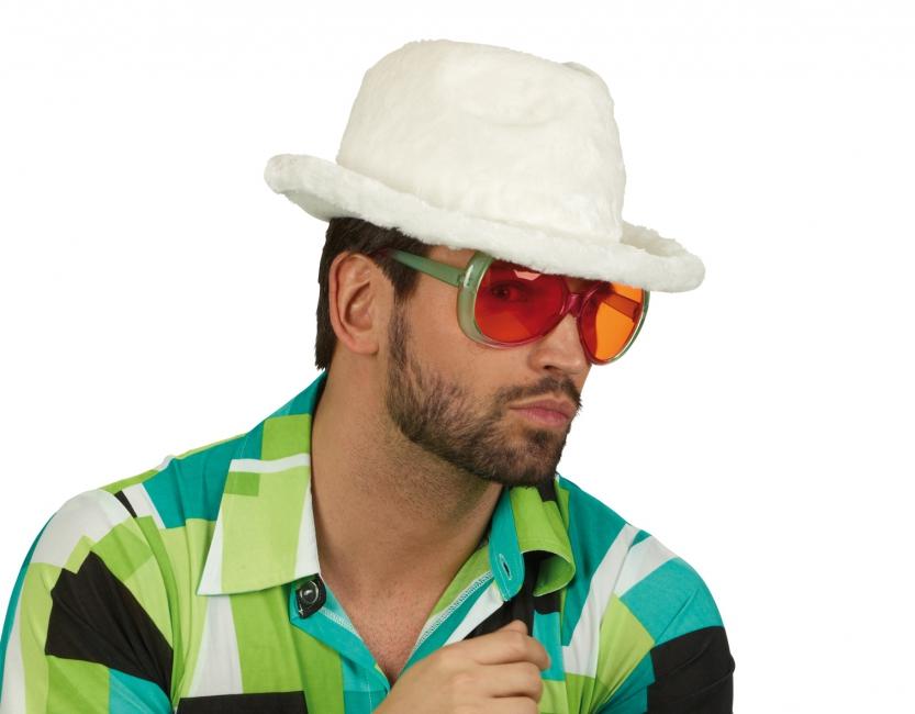 Witte pluche pooier hoeden