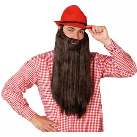 Geen XXL baard bruin Verkleedaccessoires