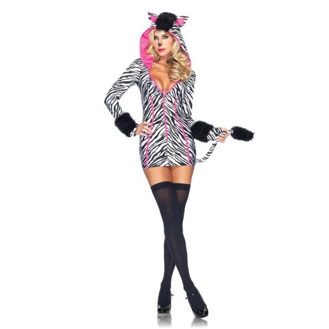 Zebra kostuum voor dames