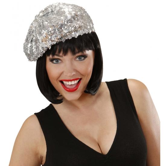 Feest hoeden Carnavalskostuum winkel Zilveren glitter mutsjes voor dames