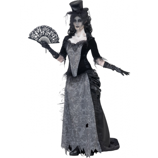 Zombie spook dames kostuum