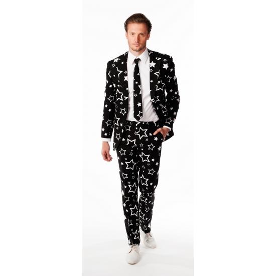 Zwart getailleerd pak voor heren met sterretjes