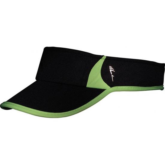 Zwart/groene zonneklep