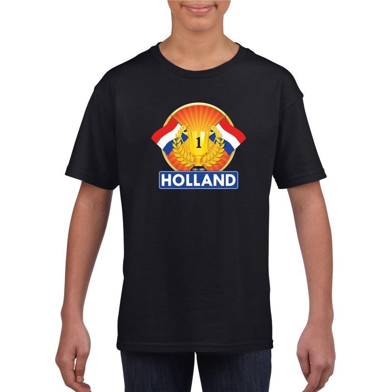 zwart-holland-supporter-kampioen-shirt-kinderen