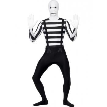 Zwart wit mime kostuum