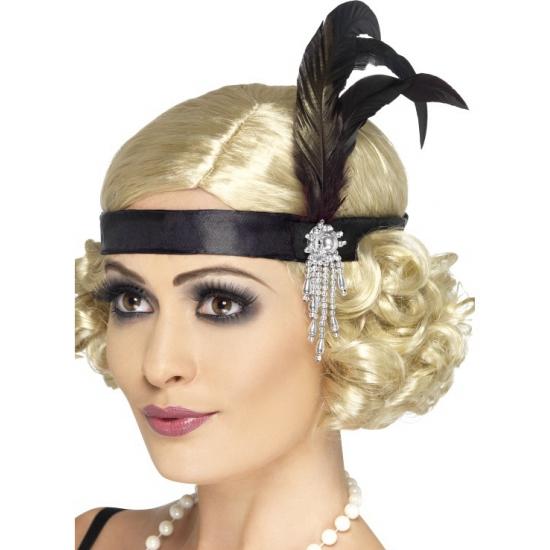 Zwarte Charleston hoofdband dames