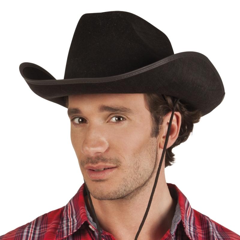 Feest hoeden Carnavalskostuum winkel Zwarte cowboyhoed Rodeo vilt voor volwassenen