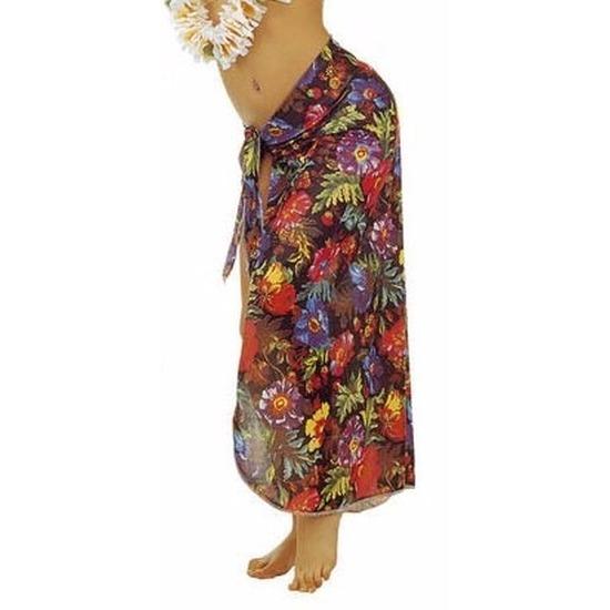 Zwarte Hawaii verkleed sarong rok voor dames Carnavalskostuum winkel te koop