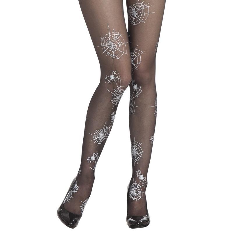 zwarte-panty-40-denier-met-witte-spinnenwebben-voor-dames