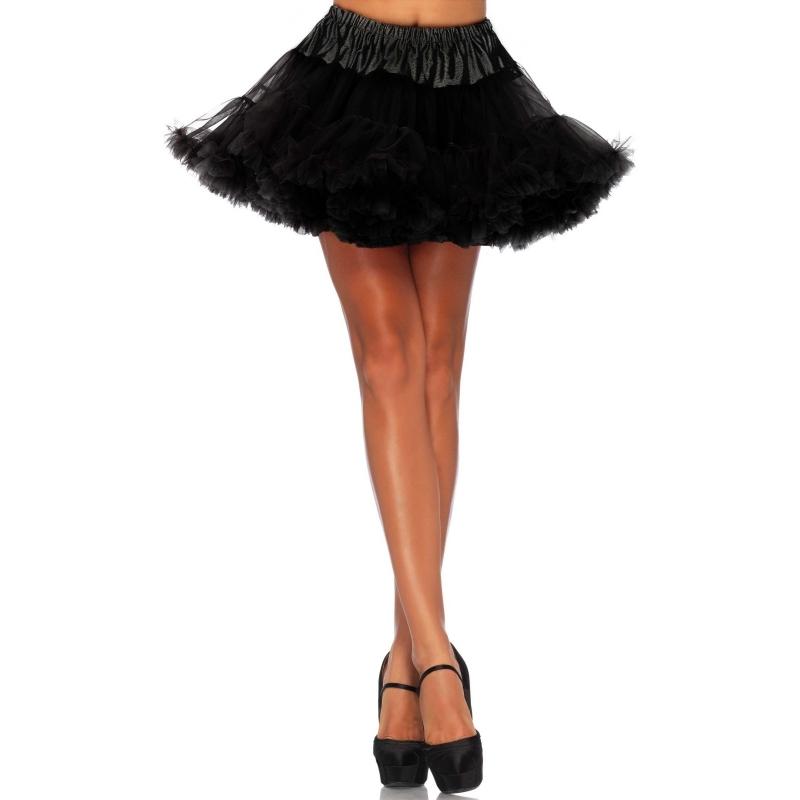 Zwarte Petticoat Kort 2-laags 40 Cm