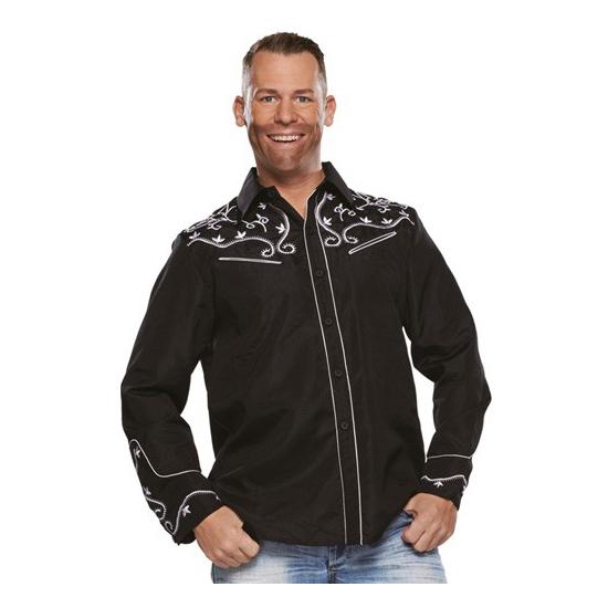 Zwarte western blouse voor heren