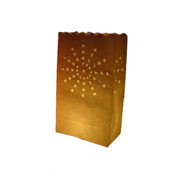 Candle Bag oranje vuurwerk 10 stuks 26 cm