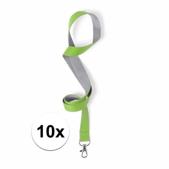 10 keycords groen/grijs 2 x 50 cm