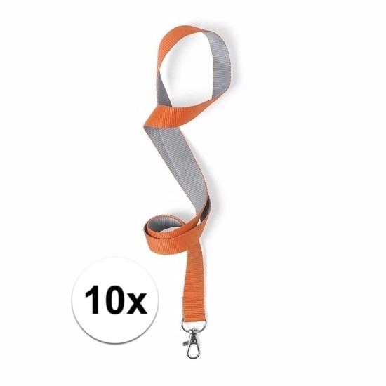 10 keycords oranje/grijs 2 x 50 cm