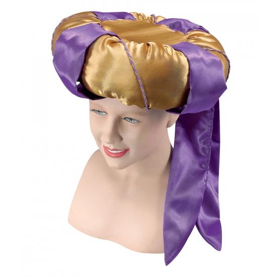1001 nacht hoed goud met paars