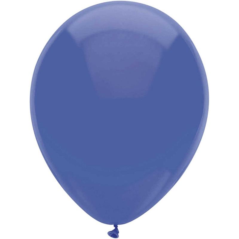 10x Donkerblauwe ballonnen 30 cm