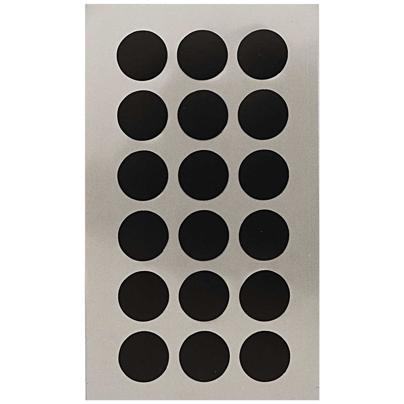 144x Zwarte ronde sticker etiketten 15 mm
