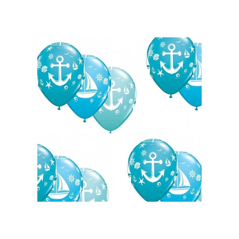 15x stuks Marine/maritiem thema party ballonnen