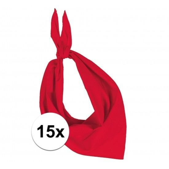 15x Zakdoek bandana rood