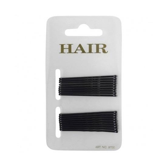18 zwarte haar schuifspeldjes