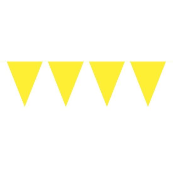 1x Mini vlaggenlijn - slinger geel 300 cm
