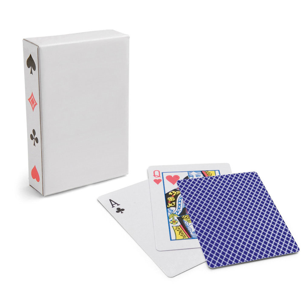 1x Setje van 54 speelkaarten blauw