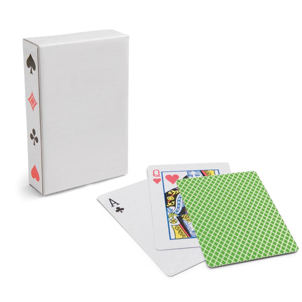 1x Setje van 54 speelkaarten groen