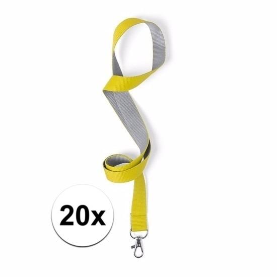20 keycords geel/grijs 2 x 50 cm