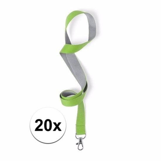 20 keycords groen/grijs 2 x 50 cm