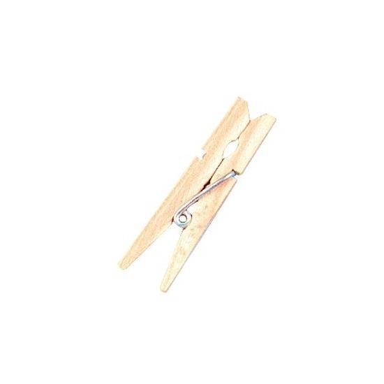 24x Mini houten wasknijpers 4.5 cm