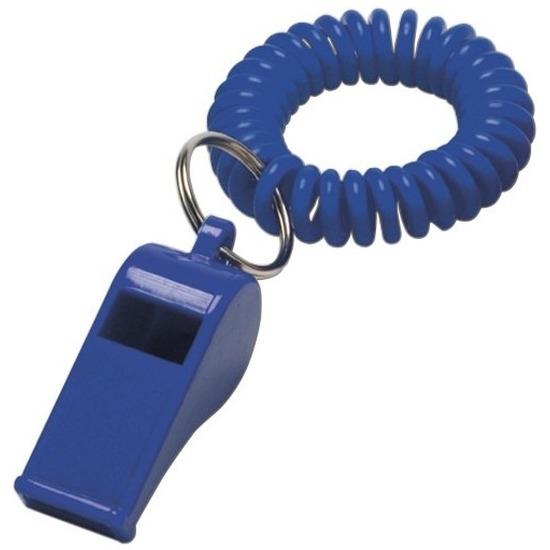 25x Blauwe fluitjes aan polsbandje