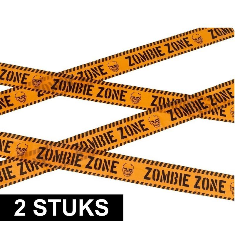2x Markeerlint Halloween Zombie zone 6 meter