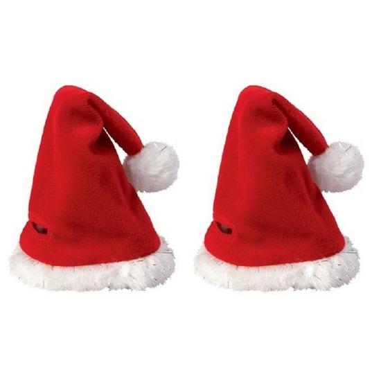 2x Mini kerstmutsjes - kerstmutsen