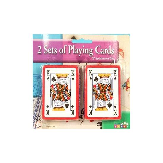 2x pakjes kaartspellen