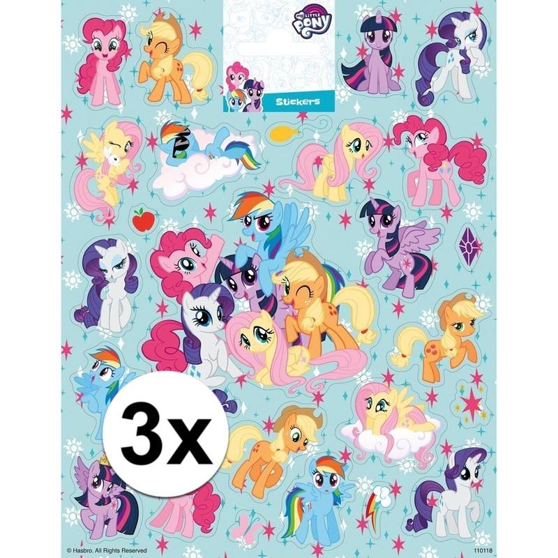 3 x Stickervellen My Little pony groot