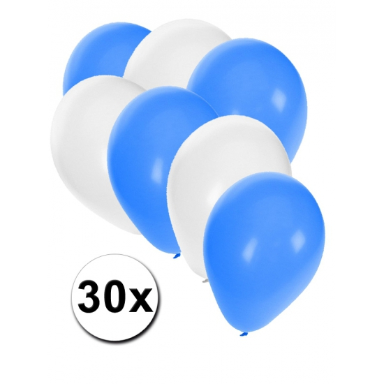 30x Ballonnen in Israelische kleuren