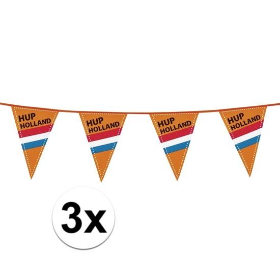 3x Hup Holland vlaggenlijn extra lang 40 meter