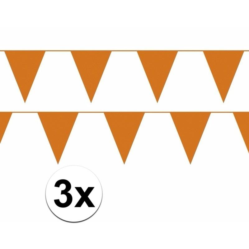 3x oranje WK versiering slinger 10 meter