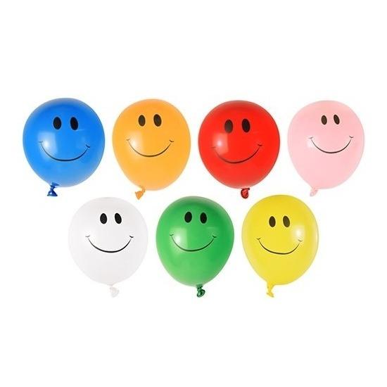 40x Smiley faces waterballonnen gekleurd