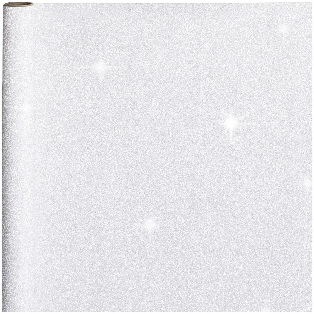 4x stuks cadeaupapier/inpakpapier zilver met glitters 400 x 70 cm