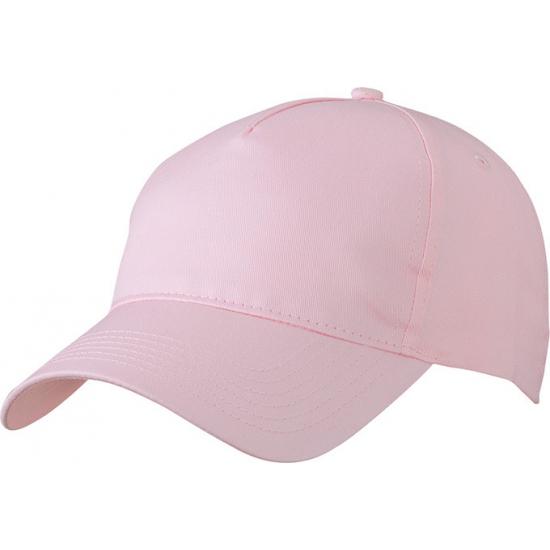 5-panel baseball petjes /caps in de kleur licht roze