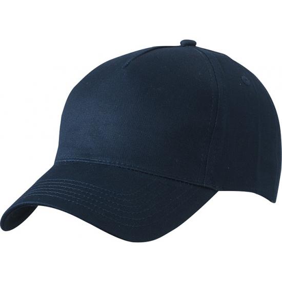 5-panel baseball petjes /caps in de kleur navy blauw