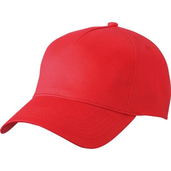 5-panel baseball petjes /caps in de kleur rood