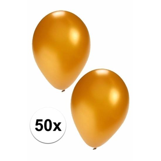 50x Gouden ballonnen