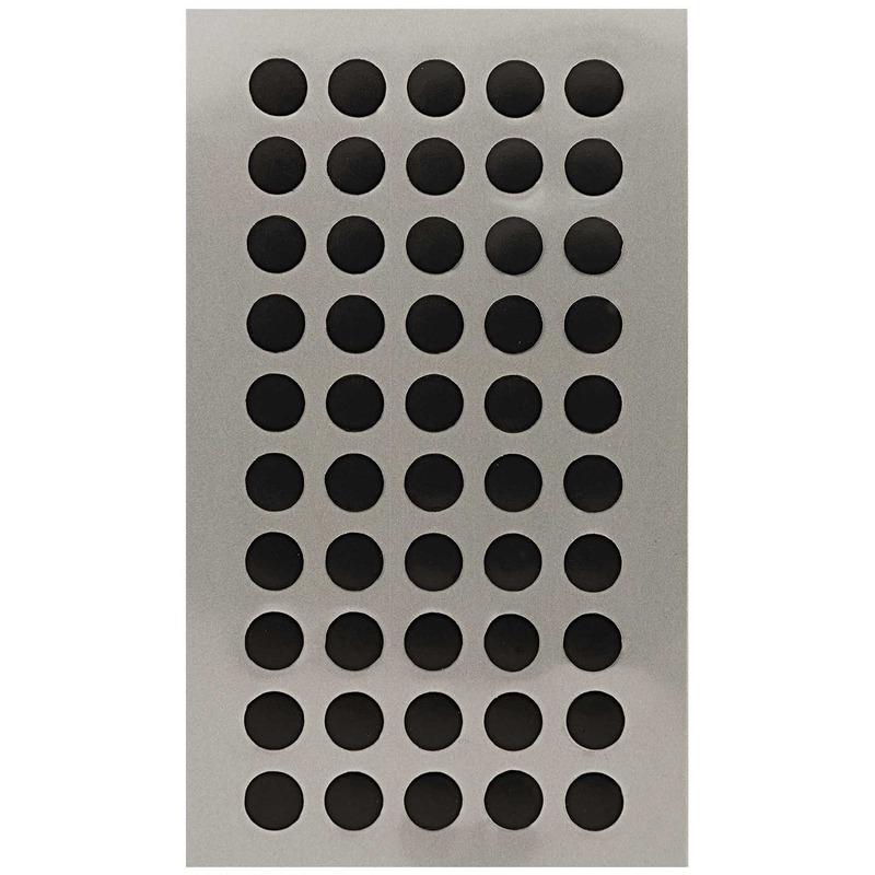 600x Zwarte ronde sticker etiketten 8 mm